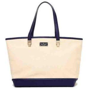 NWT Kate Spade French Navy Tote Handbag